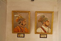 Kings picture, palace, Jaisalmer, Rajasthan, India