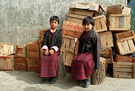 School kids, Haa, Bhutan