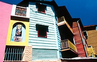Colourful buildings in La Boca district. Buenos Aires, Argentina