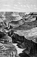 Grand Canyon. Arizona. United States, engraving from 'Le tour du monde'