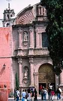 Saint Felipe Neri church. San Miguel de Allende. Mexico.