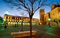 Plaza Mayor. Villanueva de los Infantes. Ciudad Real Province. La Mancha. Spain