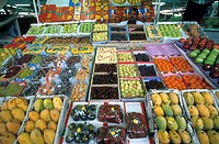 FOOD MARKET<BR>Vegetable souk of Dubali. United Arab Emirates.