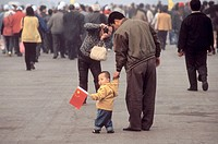 Family. Tiananmen Square. Beijing. China.