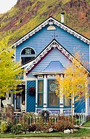 Victorian architecture in historic Silverton, Colorado, USA