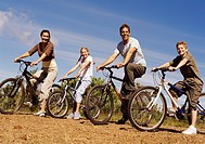 Family With Their Mountain Bikes