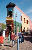 Caminito street. La Boca district. Buenos Aires. Argentina.