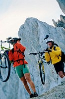 Carrying bikes in the mountains