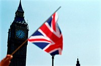 Union jack near big ben