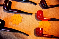 Tobacco pipes in shop