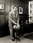 Dr Wernher von Braun (1912-77), German-American rocket pioneer, in 1958. The son of a German minister and a baron, he was educated at Zurich and Berli...