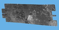 Titan´s surface. Cassini space probe radar image of part of the surface of Titan, Saturn´s largest moon. The image covers an area about 250 by 478 kil...