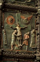 st.zeno maggiore´s church:crucifixion, verona, italy