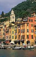 town glimpse, portofino, italy
