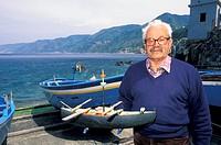 old fisherman/spadara boat, scilla, italy