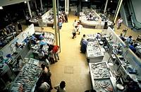 fish market, coimbra, portugal