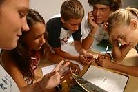 secondary school, teenaged students