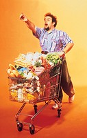 man, doing the shopping