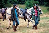couple, horse trekking
