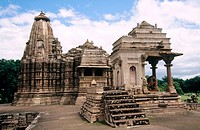 Khajuraho temples. Madhya Pradesh. India.