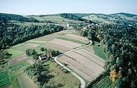 Carpathian foothills. Poland
