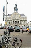 Town Hall (Stadhuis) in the Markt. Maastricht. Limburg, Netherlands