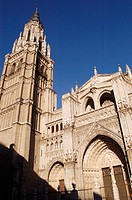 First Cathedral. Toledo old city. Spain.