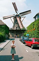 Germany. Xanten, Lower Rhine, North Rhine-Westphalia, Windmill