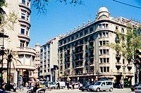 Diagonal Avenue and Via Augusta corner. Barcelona. Spain