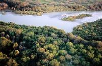 Río Grande river. Border between Texas (USA) and Tamaulipas (Mexico)