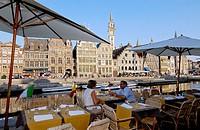 Graslei. Ghent. Flanders, Belgium