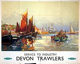 poster produced for British Railways (BR) Western Region as part of a series promoting the company's services to industries. This poster shows a view ...