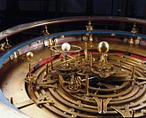 Detail. It is not known who made this orrery in the first place, only that Thomas Wright made such extensive modifications in 1733 that it has since b...