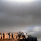 Fog over a rock formation, Monument Valley, Arizona, USA (thumbnail)
