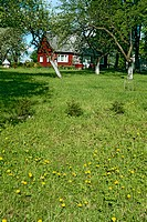 Traditional farm. Nemuno kilpos regional park area. Lithuania