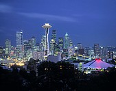Seattle skyline fr. Queen Anne Hill, Washington, USA
