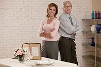 Business team, wedding planning, portrait