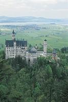Neuschwanstein Castle, Alpine Forest, Germany