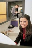 Woman smiling, portrait