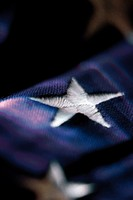 Close up of star from US flag