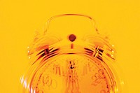 Alarm clock ringing, blurred motion