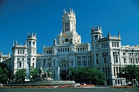 Palacio De Com. and Plaza Cildes. Madrid, Spain