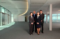 Businesspeople in empty office