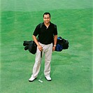 Portrait of a male golfer