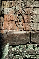 Preah Khan temple, late XIIth century AD, buddhist. Temples of Angkor. Siem Reap area. Kingdom of Cambodia.