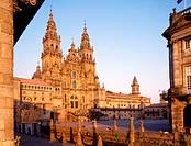 Santiago cathedral. Obradoiro square. Santiago de Compostela. La Coruña province. Galicia. Spain.