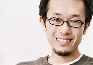 Portrait of a Twentysomething Man Wearing Glasses