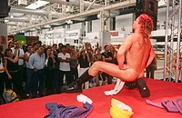 Male stripper, FICEB (International Erotic Film Festival of Barcelona). Barcelona. Spain
