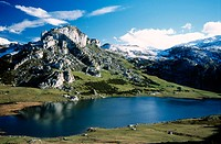 Lake Ercina, Picos de Europa National Park. Asturias, Spain