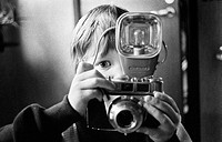 Boy with camera, Sweden